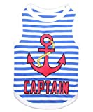 Parisian Pet Captain Dog T-Shirt, Large