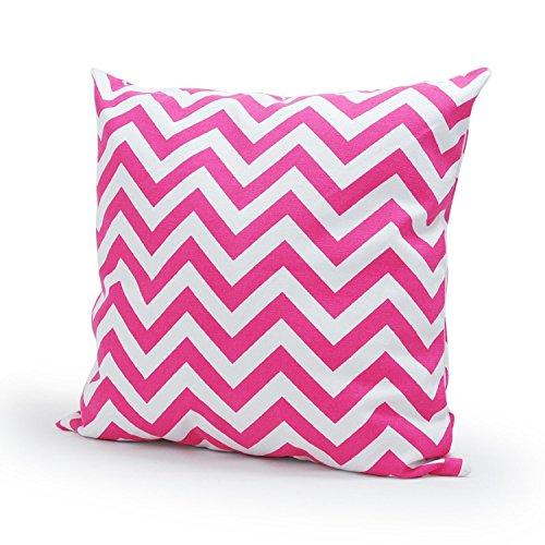 Martinad Kissenbezüge Exquisit Einfache Gewellt Streifen Wellenschliff Form Baumwolle Sofa Unikat Kissenbezug Kissenbezüge 50 * 50 cm (Color : Rosarot, Size : Size) -