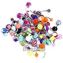 50 MIX de pelota de varios de los anillos el ombligo del vientre barras pesas cuerpo falsos