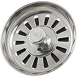 SODIAL(R) Colador Tapon de Metal para Lavabo Fregadero de Cocina