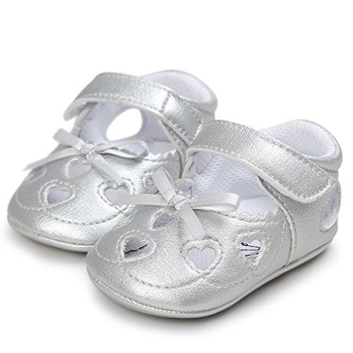 Clode® Baby Mädchen Höhle aus Sandalen Schuh Casual Schuhe Sneaker Anti-Rutsch Soft Schuhe Silber