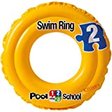 Deluxe 51 cm School Step 2 kiddie children swimming ring durable pvc inflatable for kids baby