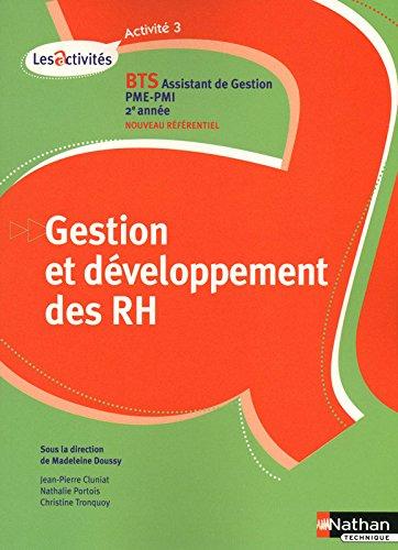 Activité 3 - Gestion et développement des RH
