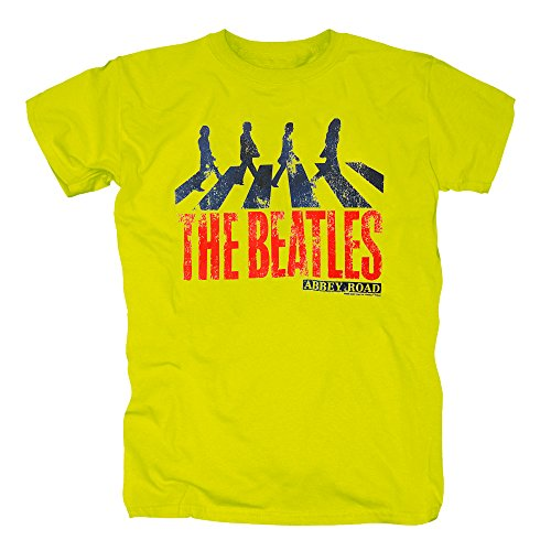 TSP The Beatles - Abbey Road T-Shirt Herren S (Kostüm Belle Modern Halloween)
