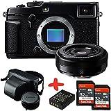 Bundle Fuji XPro2 Mirrorless Camera +XF27 27mm F2.8 Pancake Lens +Leather Case + 2xSandisk 32GB Ultra + Spare Battery