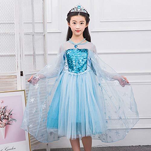 Preisvergleich Produktbild ZHUZHUDEJIA Halloween-Kleid,  Mädchen Kleid Festival Leistung Kostüm,  EIS Romantik Cosplay Prinzessin Kleid, 2, XS