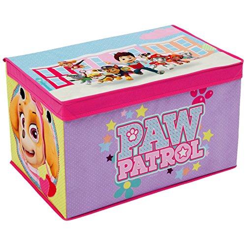 Spielzeugbox - Spielzeugkiste - Aufbewahrungskiste - Stoffbox mit großen Stauraum (Paw Patrol Lila)
