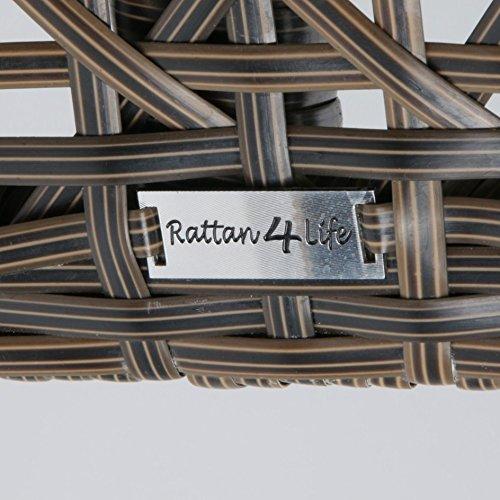 Rattan4Life 4-teilig Florenz Deluxe Polyrattan Gartenmöbel Set, Sofa / Lounge / Gartengarnitur / Kissenbezug, braun / mix / türkis - 10