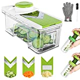 Mandoline Slicer,ONSON Vegetable Chopper Adjustable Mandolin Slicer with Spiralizer-V Blades Food Vegetable Cutter