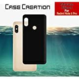 Back Cover For Xiaomi Redmi Note 5 Pro, Case Creation (TM) 0.3mm Ultra Clear Thin Soft Silicone TPU Silicone Flexible Black Silicone Back Case Cover For Xiaomi Redmi Note 5 Pro / Redmi Note5 Pro 2018/ Mi Redmi Note 5 Pro 5.99-inch (Vintage Black Print)