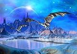 XXL Poster 100 x 70cm (S801) Dragons Fantasy World (Lieferung gerollt!)