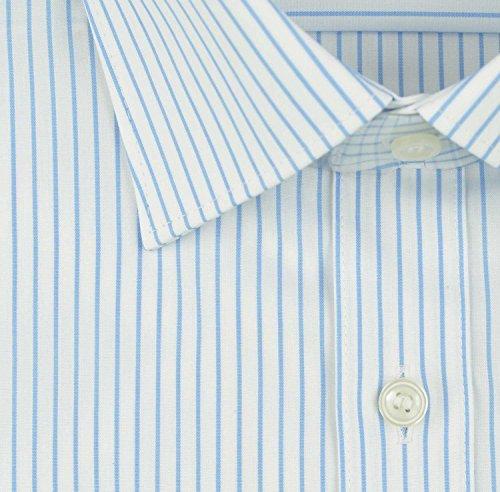 Marvelis Hemd Body Fit Italian Kentkragen in Langarm (64cm) Besonders bügelleicht bleu, Gestreift Blau