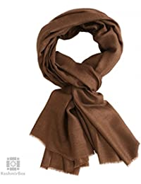 Walnut Brown Pashmina Stole (KB3820)