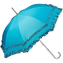 VON LILIENFELD® Parapluie Ombrelle Mariée Parasol Automatique Mary Bleu pétrole