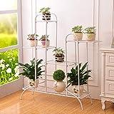 ACZZ Floral Stairs Mehrschichtig Floral/Pflanzenstand/Ungestört Stent Solide Garden Storage Regal Gartendekoration,C,Blume