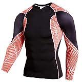 B-commerce Männer Workout Fitness Sport Gym Laufen Yoga Athletic Shirt Langarm Top Splice Farbe Leichtathletik Oansatz
