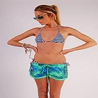 L.Bolt Fractal Palmtree Electric Pantalones Cortos de Surf, Mujer, Verde, M