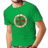 lepni.me Maglietta da uomo Il codice di Ordine Templare cavaliere cristiano (Medium Verde Multicolore)