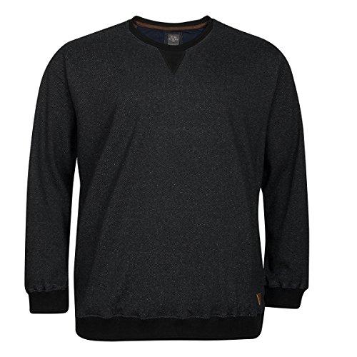 Kitaro XXL modisches Sweatshirt schwarz, XL Größe:4XL