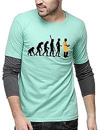 Campus Sutra Men's Printed Regular Fit T-Shirt