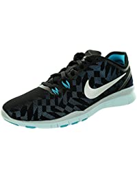 cb29fec0b89fc Nike Women's Free 5.0 Tr Fit 5 Prt Training Shoe Women US, Blk/Mtllc