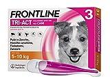 Frontline TriAct Spot On Cani | Protezione da pulci, zecche, mosche cavalline pappataci | 3 Pipette | Cane S (5 -10 Kg)