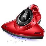 LIULINAN Anti-Staub-Milben UV-Staubsauger mit HEPA-Filtration und Doppelte Starke Absaugungen Eliminiert Milben, Bettwanzen Allergene Für Matratzen Kissen Tuch Sofas und Teppiche, Rot