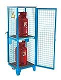 Gasflaschen-Depot Typ GFD-R GFD-R 2, lackiert, RAL 5012 Lichtblau