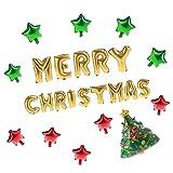 Demiawaking Merry Christmas Set Palloncini Alluminio Decorazioni di Festa Compleanno