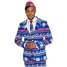 OppoSuits Trajes de Navidad Divertidos - Traje Completo  Chaqueta 066b425513e