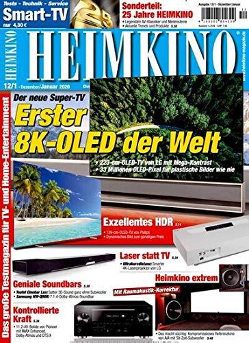 """Heimkino smart-TV 12/2019 \""""Erster 8K-Oled der Welt\"""""""