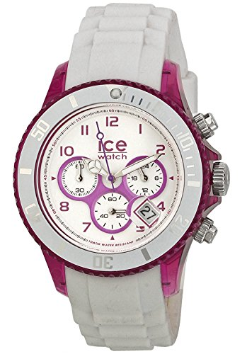 ICE-Watch-Chrono-Party-Unisex-Quartz-Watch-with-White-Dial-Time-Teacher-Display-and-White-Silicone-Bracelet-CHWPEUS13