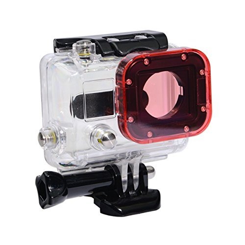 Phot-R® Snap-On Pink Action Camera Lens Filter for GoPro Hero 4 3+ 3 Underwater Sea Dive Diving Housing Case (Gopro Hero 3 Dive)