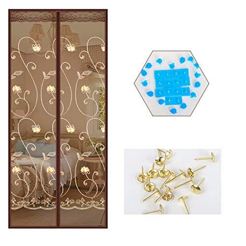 XUELIANG Magnetgitter-Tür Tragbare Gittertür mit strapazierfähiger Mesh-Vorhang-Terrassentür, zum Schutz vor Insekten