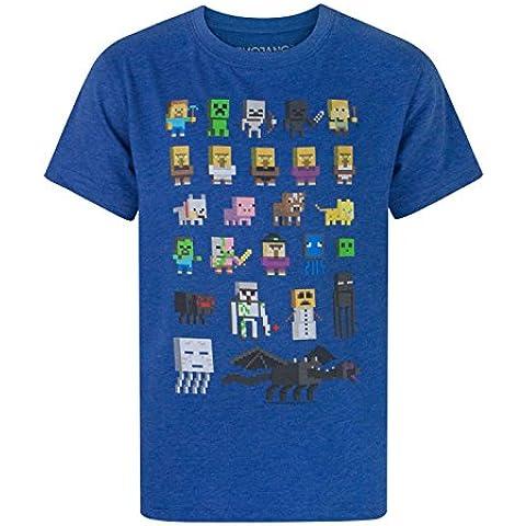 Minecraft - Camiseta de manga corta - Camiseta gráfica - Manga corta - para niño