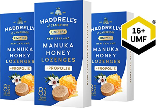 Haddrell's Manuka Honig Lutschbonbons mit Propolis