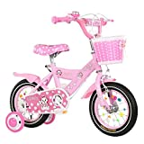 HUALQ Kinder Fahrrad Mädchen 3-9 Jahre Alt Kind Kinderwagen 12/14/16/18 Zoll Weiblich Baby