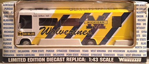 University of Michigan Wolverines Limited Edition Diecast WINNEBAGO 1:43 Scale 2001 by Fleer Collectibles (Rose White Collectibles)