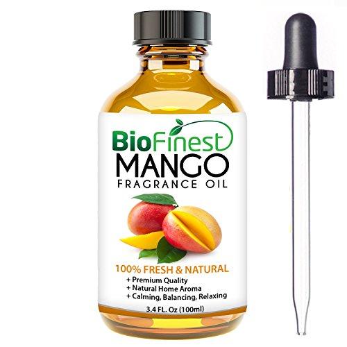 biofinest Mango Duft Öl–100% Pure & Natural–Fresh Home Duft–Air Refresher–Entspannende Aromatherapie–Lebensmittel Aroma, Kochen, Backen–GRATIS E-Book (Zitrone Tropfen Minze)