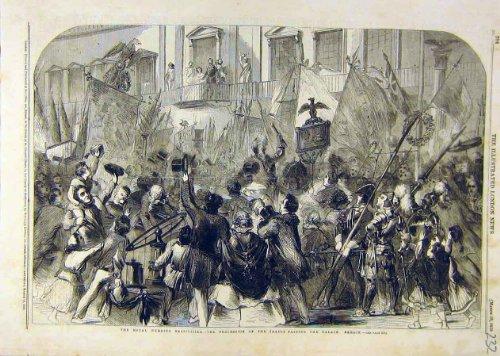 Roayl-Hochzeit Handelt Prozessions-Palast Berlin 1858