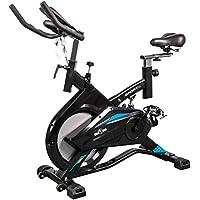 Preisvergleich für GORILLA SPORTS® Indoor Cycling Bike Profi mit Trainingscomputer und Riemenantrieb – Heimtrainer Fahrrad bis 100 kg belastbar