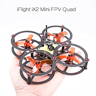 iFlight Racer iX2 90mm Mini RC Drone with 5.8G 25mW Video Transmitter Integrated Camera + 4pcs 1104 7500KV Brushless Motor + 10A 4 in1 Dshot ESC + F4 REVO Flight Control + 4pcs 2030 Propeller for Outdoor Indoor Fly FPV Racing Quadcopter PNP Kit (Assembled