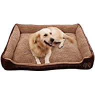AcornPets B-603 Deluxe Coffee Color Extra Large Dog Bed Cat Pet Pillow Fleece 110 x 80 CM For Large Dogs, Using Fur Velvet, Oxford Frabric, Detachable and Washable