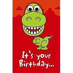 Tambaleante Dinosaurio Tarjeta Cumpleaños