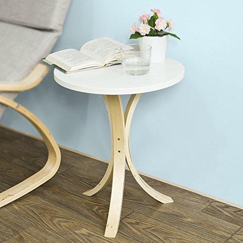 SoBuy® FBT29-W Guéridon Table d'appoint ronde 3 pieds Bouts de canapé