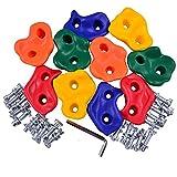 Eggdel interni ed esterni da parete o piccolo suini Rock pietre in plastica per bambini Esercizio arrampicata Tenere casuali Colori