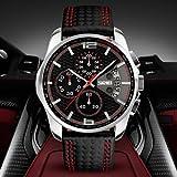 Fenkoo Herren Armbanduhr Japanischer Quartz Kalender / Chronograph / Wasserdicht Leder Band Schwarz Marke- SKMEI