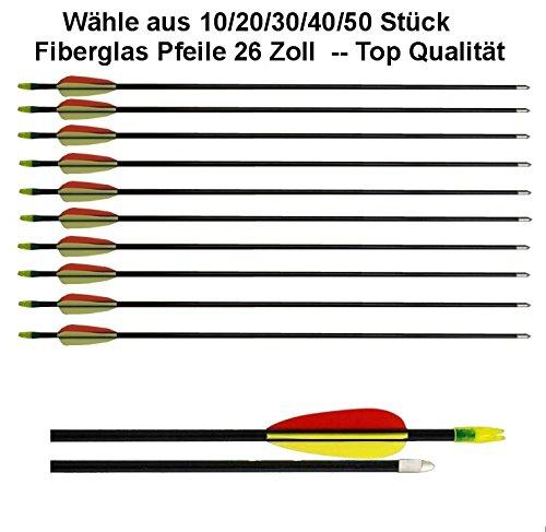 20 Flèches / Longueur: 26 pouces / Fabriqué à partir de fibre de verre