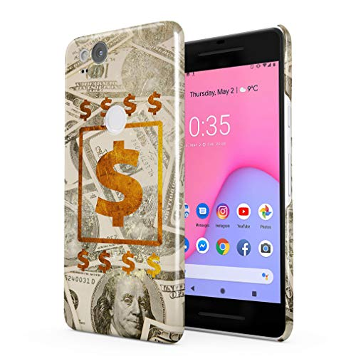 Maceste 100 Dollar Bills Cash Gold Kompatibel mit Google Pixel 2 SnapOn Hard Plastic Phone Protective Fall Handyhülle Case Cover (2 Dollar Bill Case)