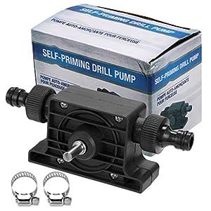 outgeek Bohrpumpe, Tragbare Selbstansaugende Transfer Wasserpumpe Ölpumpe für Bohrmaschine Für Bohrmaschine